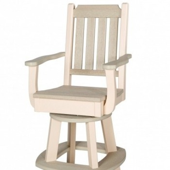 WV-KE-ChS- Keystone Swivel Counter Chair with Arms $610; Bar Height $635; Dining $570