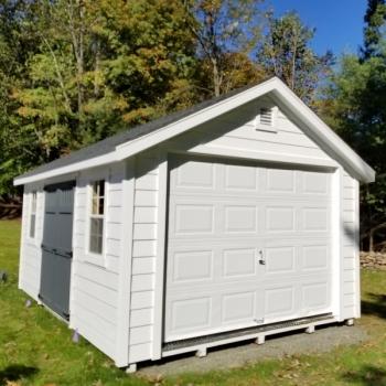 New England A-Frame Garage Hardy Plank