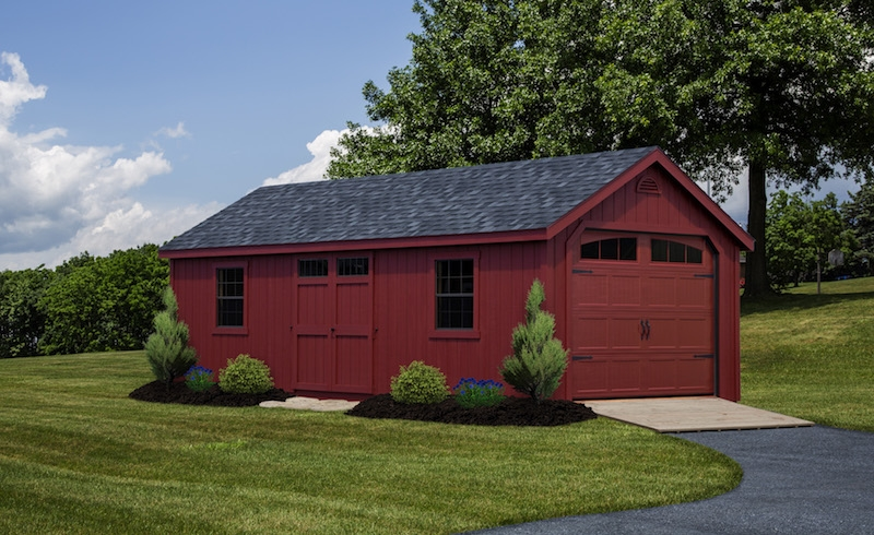 New england garages amish mike amish sheds amish barns for 30x36 garage