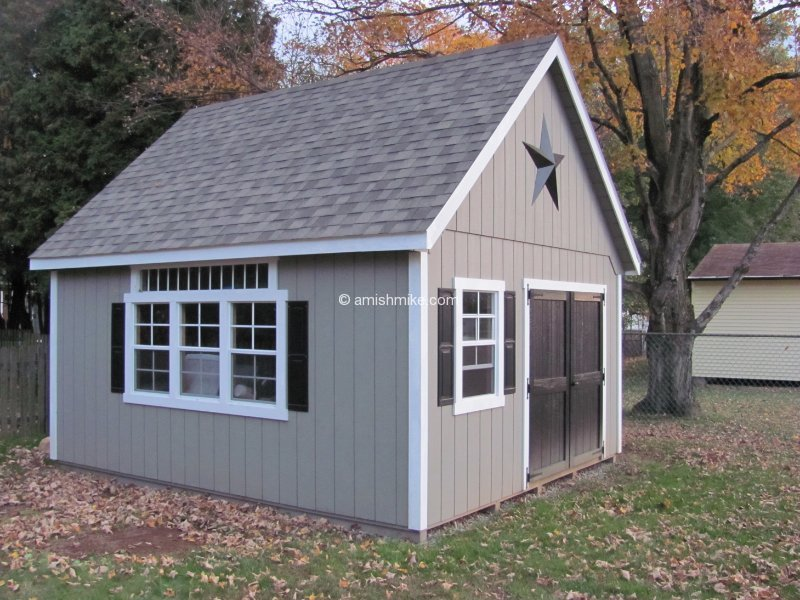 Amish shedsshed plans shed plans for Garden sheds built on site