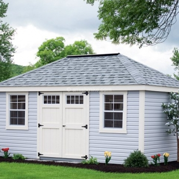 10' x 16' New England Deluxe Hip Shed