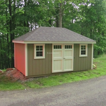 10' x 16' Clay Body New England Hip Shed