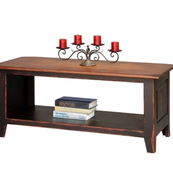 HB-28-B Coffee Table Chest with Shelf 44wx19hx20d