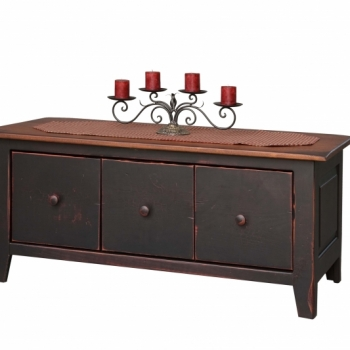 HB-28-C Coffee Table Chest with Drawers 44wx19hx20d