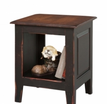 HB-31-1 End Table Chest with Shelf 20wx24hx20d