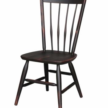 HB-36-O Thumb Back Side Chair 18wx38hx16d