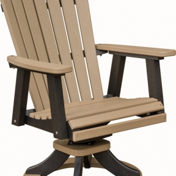 """Comfo Back Swivel Rocker Dining Chair 28""""Wx27""""Dx41""""H {ESDC2127} $740"""