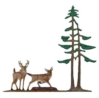 Deer and Pines