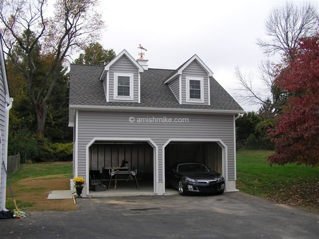 Two story garage vinyl 2 story garage two story garage for Two story two car garage