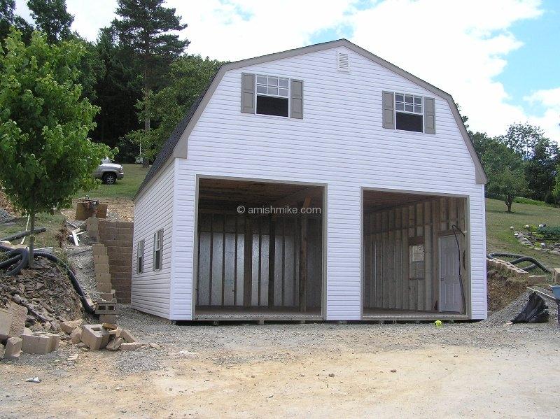 2 Story Amish Garages : Patriots garages amish mike sheds barns