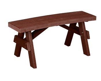 "WV GA-BeC-40 40"" Curved Garden Poly Bench $265"