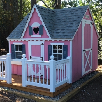 8x8 Victorian Playhouse with a Dormer