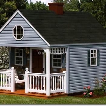 8' x 12' Backyard Cabin - Blue