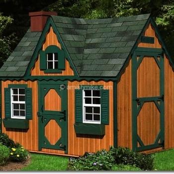 10' x 8' Victorian Playhouse - Cedar