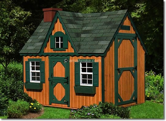 Play Houses Additionally Garden Shed On Outdoor Playhouse Blue Roof