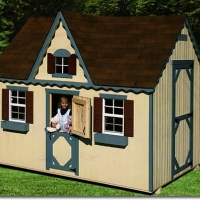 10' x 8' Victorian Playhouse - Beige