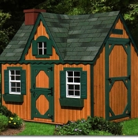 10' x 8' Victorian Playhouse - Cedar