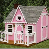 6' x 8' Victorian Playhouse - Pink