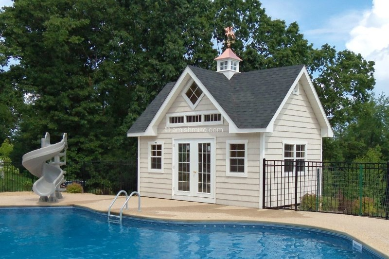 Traditional Pool Houses Amish Mike Amish Sheds Amish