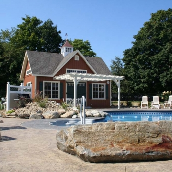 Traditional Pool House 14 x 24 Patriot