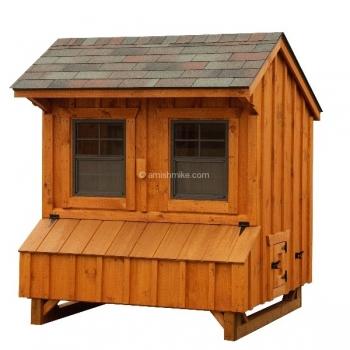4' x 6' Quaker Highside Wall BB Cedar Coop