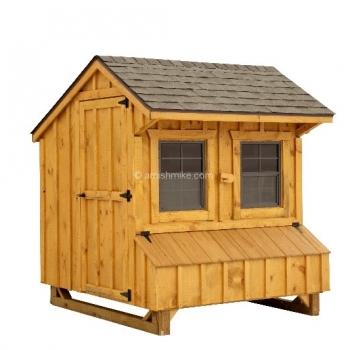 5' x 6' Quaker BB Brown Cedar Coop