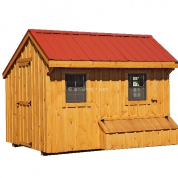 7' x 12' Quaker BB Natural Style Coop