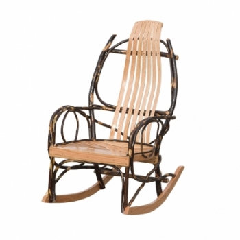 Hickory Rocker - Rustic Arms