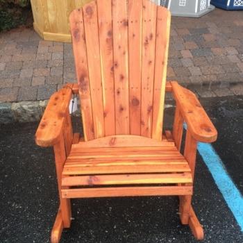 "MM-13 23"" Wide Cedar Adirondack Rocker $350"