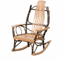 Hickory Rocker - Oak Arms