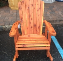 "MM-13 23"" Wide Cedar Adirondack Rocker $350"