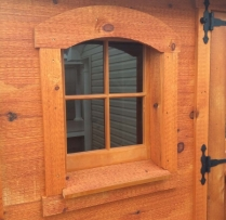 pine sash with arch window trim