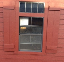 transom above window
