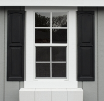 window trim and shutter combo