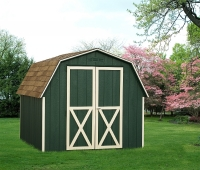 8' x 10' Green Mini Barn with optional gable vents