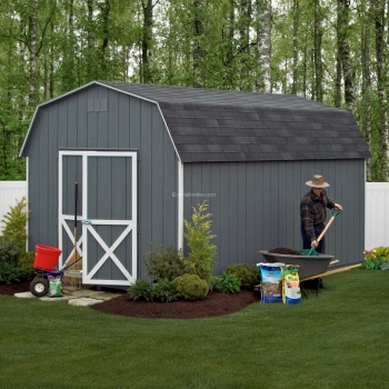 10' x 16' Barn Dark Gray