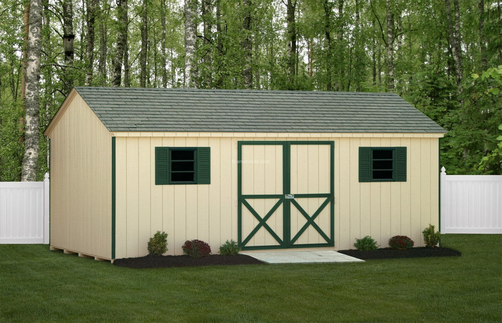 Traditional series a frame sheds amish mike amish sheds for Amish built sheds