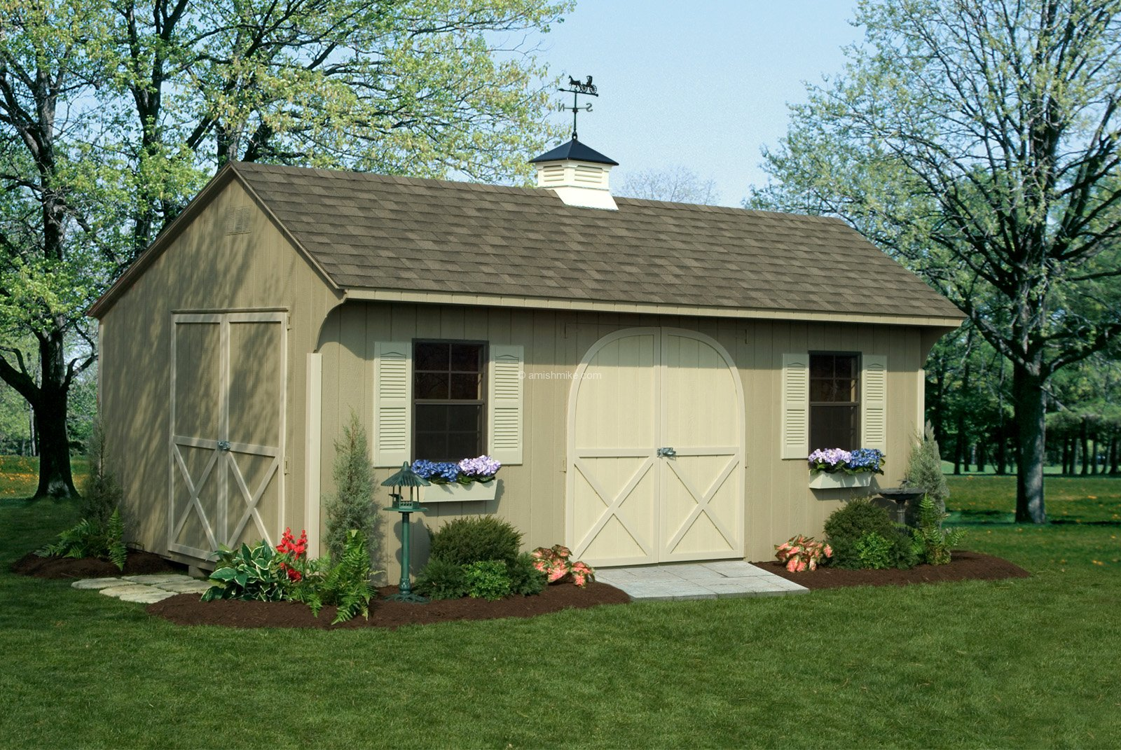 12 x 20 almond signature quaker shed - Garden Sheds Nj