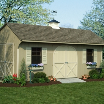 12' x 20' Almond Signature Quaker Shed