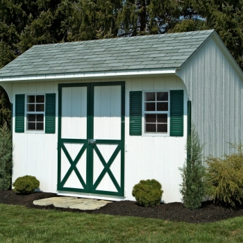 8' x 12' White Signature Quaker Shed