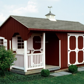 10' x 16' Signature Quaker Shed Red