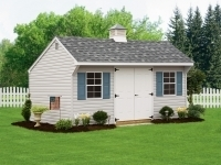 10x16 Traditional Quaker with Cupola and Vinyl Siding