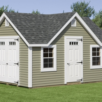 12' x 16' New England Classic Shed
