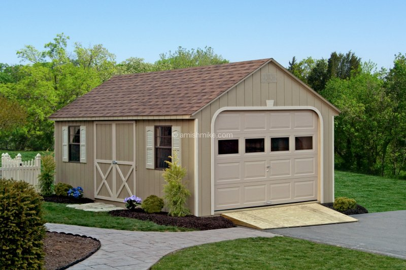 Traditional garages amish mike amish sheds amish barns for Cape cod garage doors