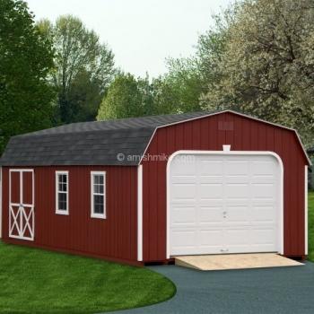 12' x 24' Garage Barn Red