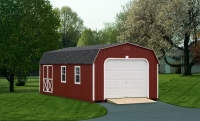 12' x 24' Garage Barn Red
