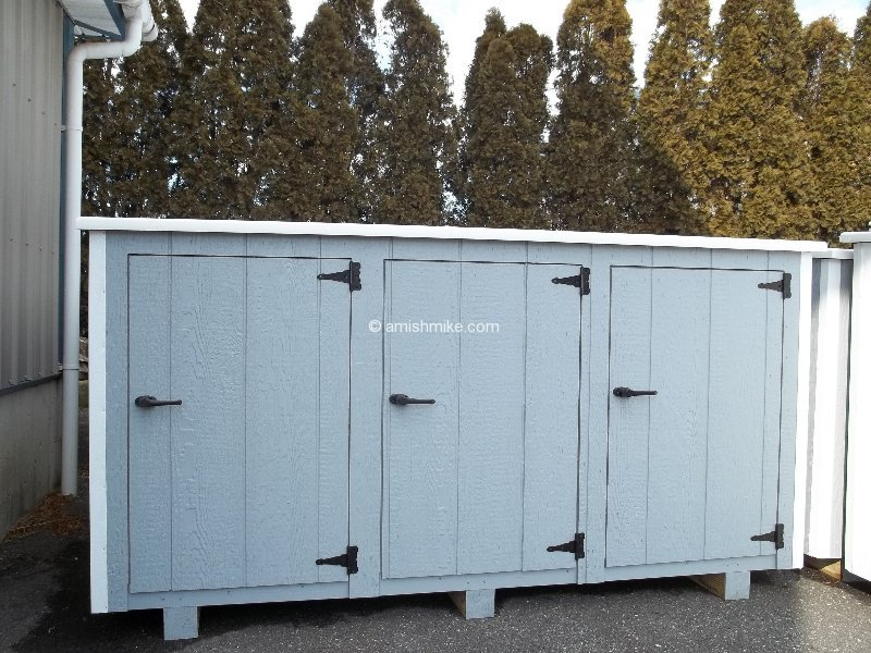 Garbage Can Sheds. 100_0200 2-Can Garbage Shed 59x25x47 & Garbage Can Sheds - Amish Mike- Amish Sheds Amish Barns Sheds NJ ...