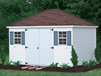 8' x 12' Signature Vinyl Hip A-Frame Shed