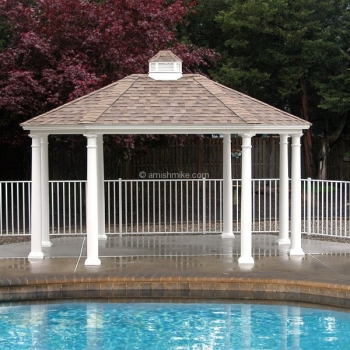 12' x 16' Traditional Oval Vinyl Pavilion