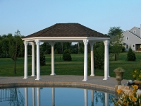 14' x 20' Traditional Oval Vinyl Pavilion
